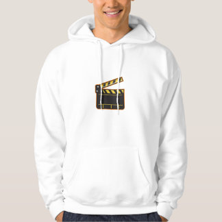 Movie Camera Slate Clapper Board Open Retro Hoodie