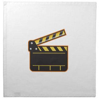 Movie Camera Slate Clapper Board Open Retro Napkin