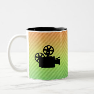 Movie Camera Two-Tone Coffee Mug