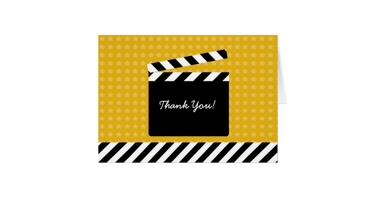 Movie_clapboard_thank_you_card 137515015518231688 on Horizontal Writing Paper