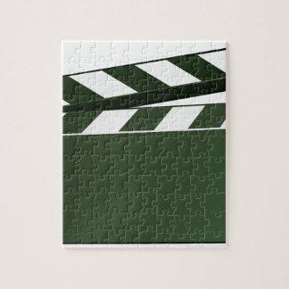 Movie Clapper Board Background Jigsaw Puzzle