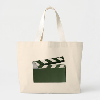 Movie Clapper Board Background Large Tote Bag