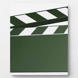 Movie Clapper Board Background Plaque