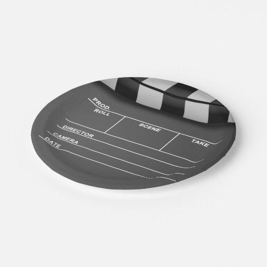Movie Clapper Board Paper Plates 7 Inch Paper Plate