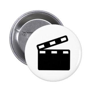 Movie clapper cinema pin