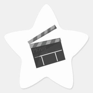Movie Clapper Star Sticker