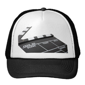 movie clapperboard, action! mesh hat