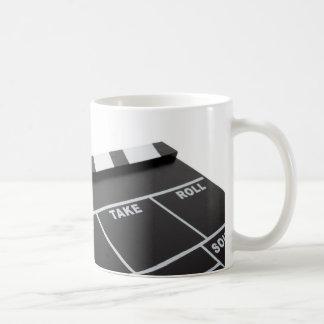 movie clapperboard, action! coffee mug
