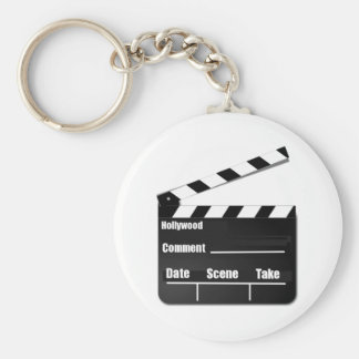 Movie Clapperboard Basic Round Button Keychain