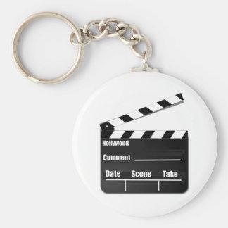 Movie Clapperboard Basic Round Button Keychain