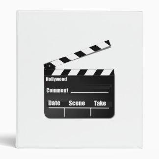 Movie Clapperboard Vinyl Binders