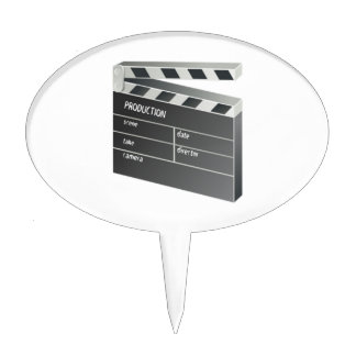 Movie Clapperboard Cake Toppers