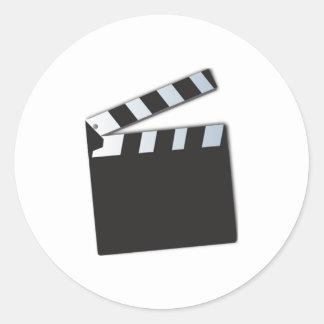 Movie Clapperboard Classic Round Sticker