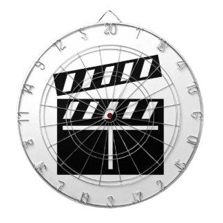 Movie Clapperboard Dartboard With Darts
