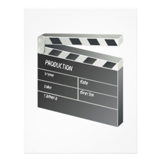 Movie Clapperboard Personalized Letterhead