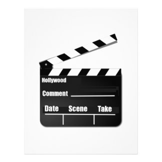 Movie Clapperboard Letterhead Design