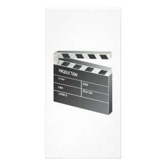 Movie Clapperboard Photo Greeting Card