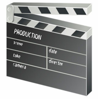 Movie Clapperboard Photo Cut Out