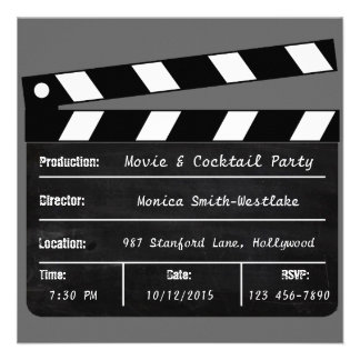 Movie Cocktail Party Invitation