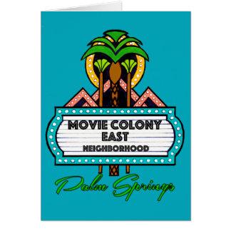 MOVIE COLONY EAST PALM SPRINGS CARD