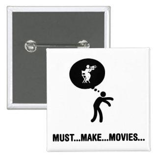Movie Director 2 Inch Square Button