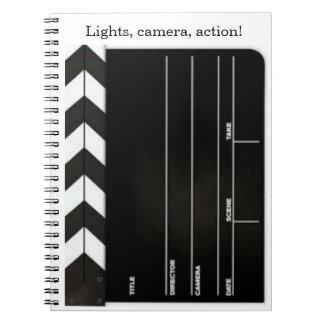 Movie Director Clapboard/Slate Spiral Notebook