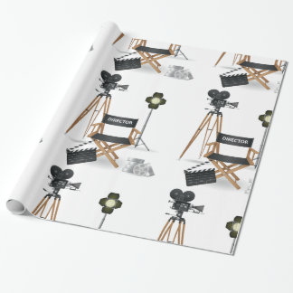 Movie Director Set Glossy Wrapping Paper