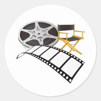 movie equipments round sticker
