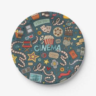 Movie Fan Cinema Theater Design Paper Plate