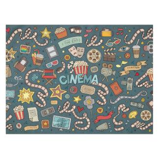 Movie Fan Cinema Theater Design Tablecloth