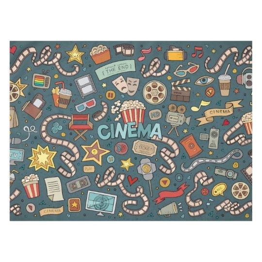 Movie Fan Cinema Theatre Design Tablecloth