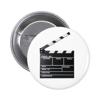 movie film clapperboard button