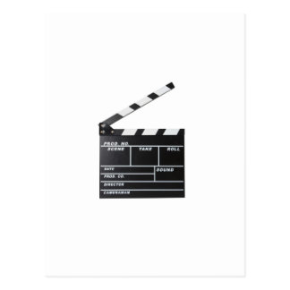 movie film clapperboard postcard