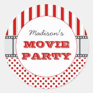 Movie Film Personalized Party Sticker