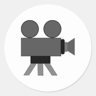 Movie Film Projector Round Sticker