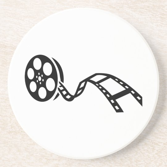 Movie film reel coaster