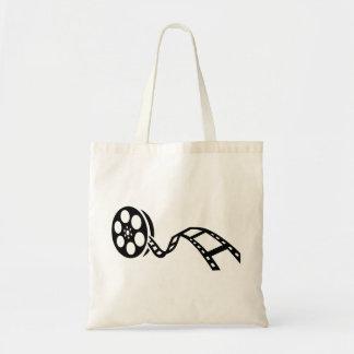 Movie film reel tote bag