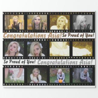 Movie Film Strip Photo Frames Gift Wrap