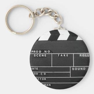 movie film video makers Clapper board design Keychain