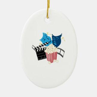 Movie Lover Ceramic Ornament