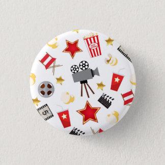 Movie Lover Pattern 1 Inch Round Button