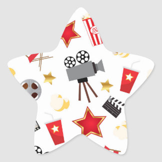 Movie Lover Pattern Star Sticker