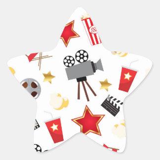 Movie Lover Pattern Star Sticker
