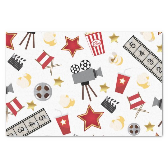 Movie Lover Pattern Tissue Paper