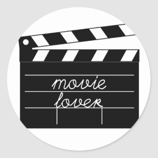 Movie Lover Tshirt Classic Round Sticker