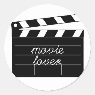Movie Lover Tshirt Round Sticker
