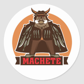 movie machete round sticker