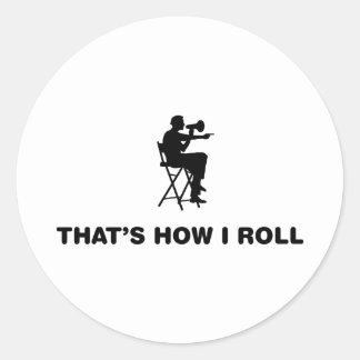 Movie Maker Round Sticker