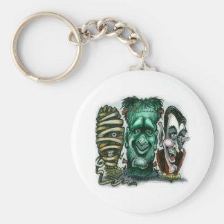 Movie Monsters Basic Round Button Keychain