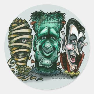 Movie Monsters Round Sticker